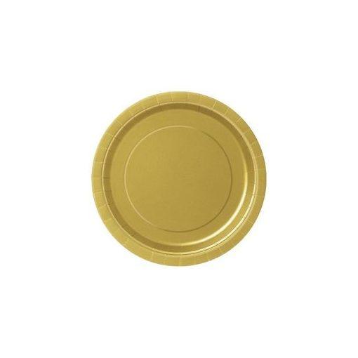 Papírtányér 23cm 8db arany p3325