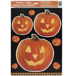Világító Tök Mintás Halloween Parti Ablakdekoráció, p27954