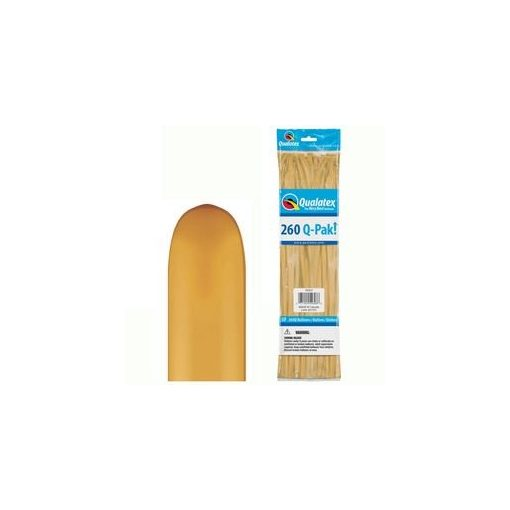 QUALATEX 260Q modellező lufi 50db/csomag arany