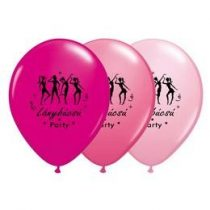 "Lánybúcsúra latex lufi 11"" 28cm  6db Lánybúcsú Party, q33404"