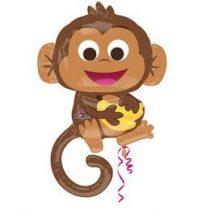 "Óriás fólia lufi 36"" 91cm majom, n3457301, héliummal töltve"