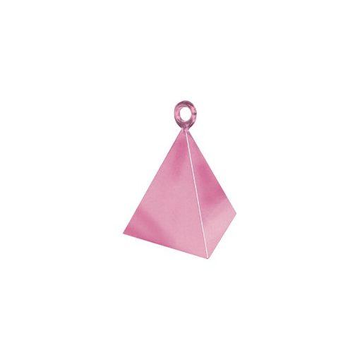 Léggömbsúly, nehezék 110g piramis forma, gyöngyház rózsaszín színben, 14401