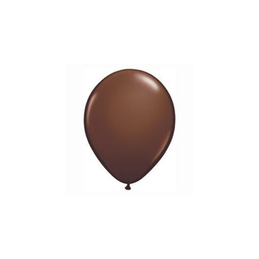 "Lufi QUALATEX 5"" (13cm-es) Latex léggömb, fashion színek 100db/csomag, csokoládé barna, fashion chocolate brown 68776"