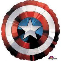"""Óriás fólia lufi 28"""" 70cm Amerika kapitány, 3484101, héliummal töltve"""