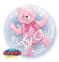 """Baby Girl, Double Bubble lufi 24"""" 60cm Lufiban lufi, Héliummal töltve, 29488"""