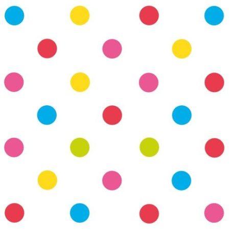 Szalvéta 33x33cm Mix-it pöttyös 20db 3 rétegű, Susy