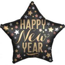 "Fólia lufi 18"" 45cm Happy New Year, 3832401, héliummal töltve"