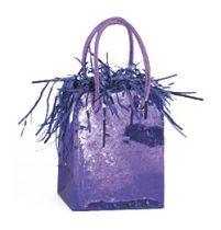 Léggömbsúly, nehezék 160g ajándéktasak forma, lila színben, 49016