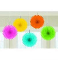 Függő dekoráció, legyező 15,2cm 5db vegyes színű, a2905590