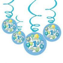 Boldog 1. szülinapot! Kék függő dekoráció, 24541