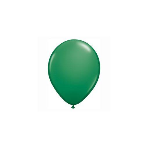 "QUALATEX 11"" (28cm-es) Latex léggömb, standard színek, zöld lufi, standard green"