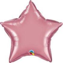 """Egyszínű csillag fólia lufi 20"""" 50cm Mauve csillag, 90077, héliummal töltve"""