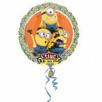 """Éneklő, zenélő lufi 28"""" (71cm) Happy Birthday, Gru, Minion, Héliummal töltött, 3492801"""