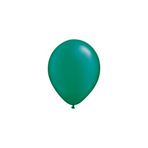 """Lufi QUALATEX 11"""" (28cm-es) gyöngyház (pearl) színek -  100db/csomag - gyöngyház sötétzöld, pearl emerald green"""
