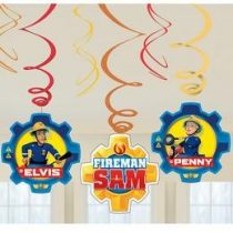 Spirális Függő dekoráció, Sam a tűzoltó - 6 db, a9902183
