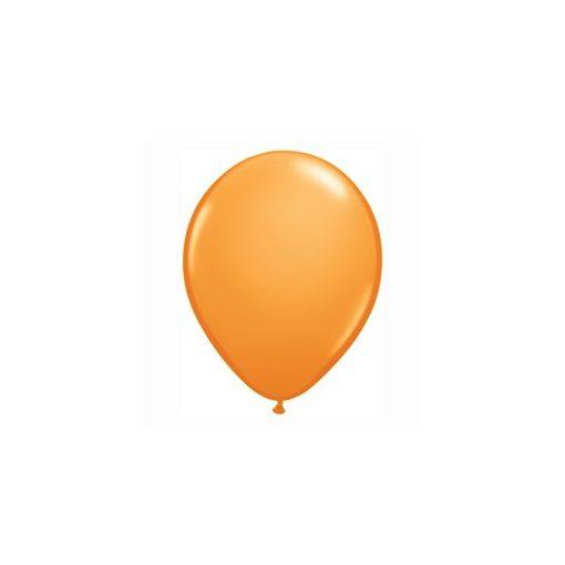 "QUALATEX 16"" (40cm-es) Latex léggömb, standard színek, narancssárga  lufi, standard orange"