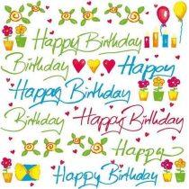Szalvéta 33x33cm Happy Birthday 20db 3 rétegű Susy