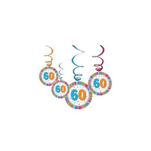 Függő dekoráció, 6db, Radiant, 60-as számmal, 20277