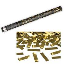 Konfetti ágyú, 60cm, arany fólia téglalapokat kilövő, oTUKM60-019