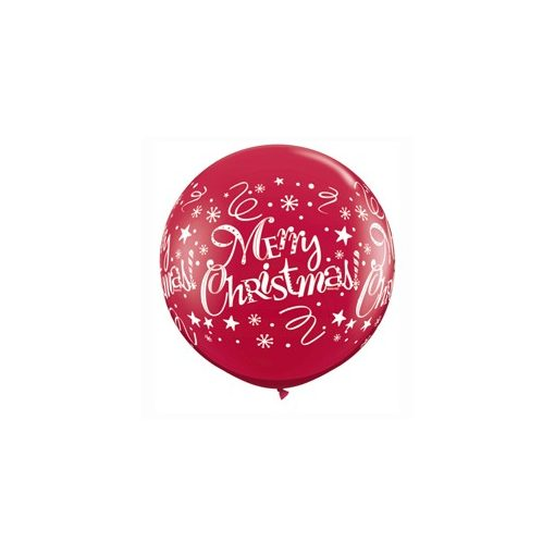 3 feet 91cm latex léggömb Merry Christmas