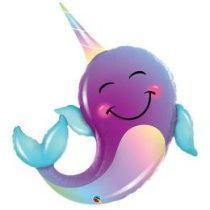 """Óriás fólia lufi 40""""  101cm mosolygós party delfin, 87956, héliummal töltve"""
