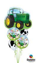 Héliumos luficsokor szülinapra, traktor, Happy Birthday - INGYENES KISZÁLLÍTÁSSAL