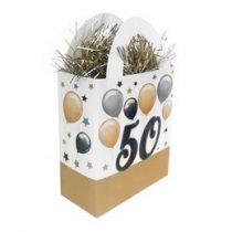 Léggömbsúly, nehezék 120g ajándéktasak forma, elegáns, 50-es számmal, 25777