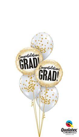 Héliumos luficsokor ballagásra, Congratulation Grad - Ingyenes szállítással