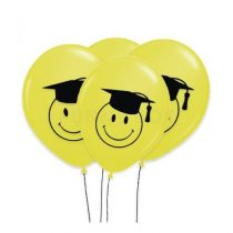 "Ballagási latex lufi 11"" 28cm, smiley, 1020012-printballagsmiley-bont"