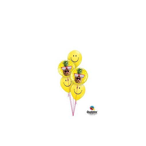 Héliumos luficsokor bármely alkalomra, ananas, ananász - INGYENES KISZÁLLÍTÁSSAL