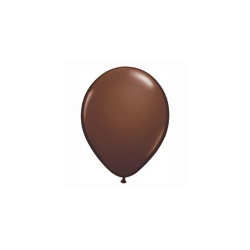 "Lufi QUALATEX 11"" (28cm-es) Latex léggömb, fashion színek 100db/csomag, csokoládé barna, fashion chocolate brown"