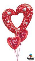 Héliumos luficsokor eskülvő, szerelem, szív - INGYENES KISZÁLLÍTÁSSAL
