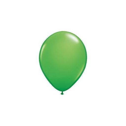 """Lufi QUALATEX 5"""" (13cm-es) Latex léggömb, fashion színek 100db/csomag, tavaszias zöld, Spring green 45707"""
