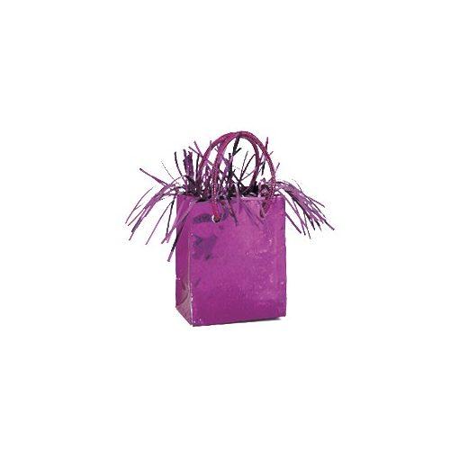 Léggömbsúly, nehezék 160g ajándéktasak forma, pink színben, 49017