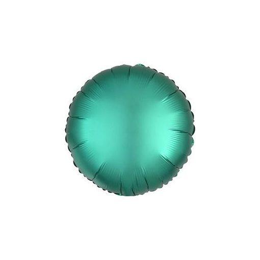 """Egyszínű kerek fólia lufi 18"""" 45cm Chrome zöld, Green, n3679801, héliummal töltve"""