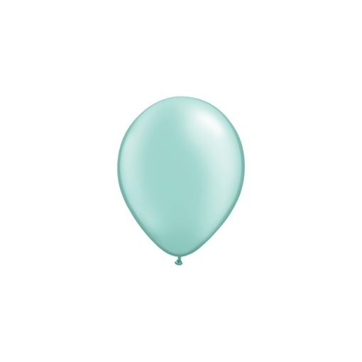 """QUALATEX 11"""" (28cm-es) Latex léggömb, pearl színek gyöngyház menthol lufi, pearl mint"""