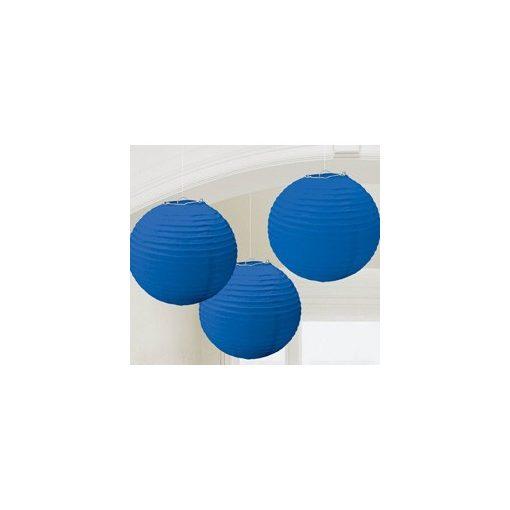 Lampion gömb 24cm 3db, kék színben a24055105