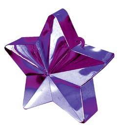 Léggömbsúly, nehezék 170g csillag forma, lila színben, 11780014