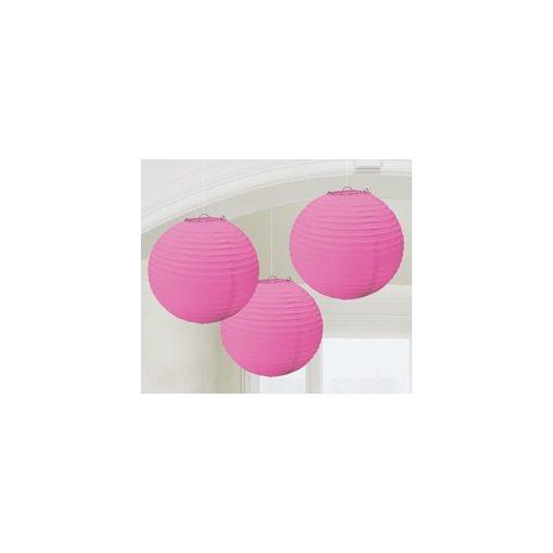 Lampion gömb 24cm 3db, rózsaszín színben a24055103