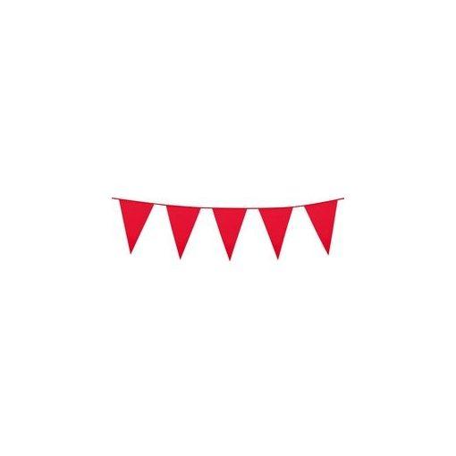Zászlófüzér 10m műanyag, piros, t74782