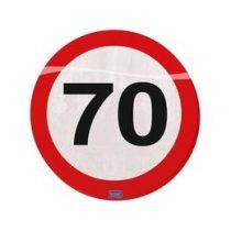 Szalvéta sebességkorlátozó számos 30cm 20db 70-es számmal