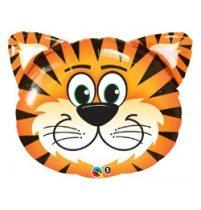 """Óriás fólia lufi 30""""  76cm tigris, 16189, héliummal töltve"""