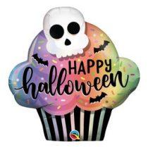 """Óriás fólia lufi 32"""" 81cm koponyá muffin, Halloween, 89932, héliummal töltve"""