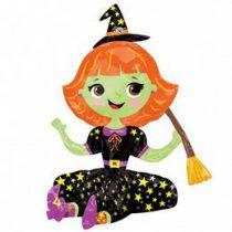 """Óriás fólia lufi 21"""" 53cm boszorkány, Halloween, 3137701, héliummal töltve"""