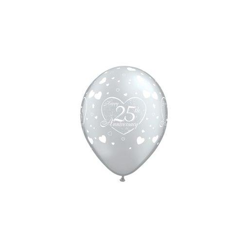 "Latex lufi 11"" 28cm 6db 25. évfordulóra, 17779"