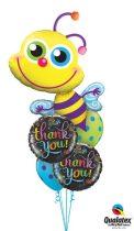 Héliumos luficsokor bármely alkalomra, thank you, köszönöm, méhecske, bee - INGYENES KISZÁLLÍTÁSSAL