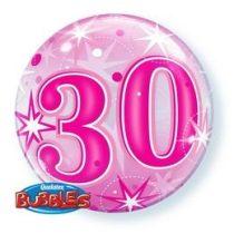 """Számos Bubbles lufi 22"""" 56cm 30-as számmal, Héliummal töltve, 43124"""