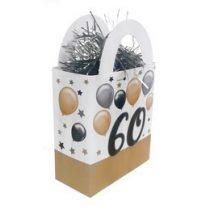 Léggömbsúly, nehezék 120g ajándéktasak forma, elegáns, 60-as számmal, 25784