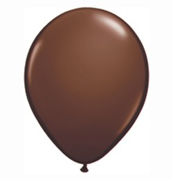 "QUALATEX 11"" (28cm-es) Latex léggömb, fashion színek, csokoládé barna lufi, fashion chocolate brown"
