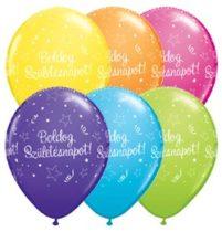 """Szülinapi latex lufi 11"""" 28cm 6db Boldog születésnapot!, q48573rp"""